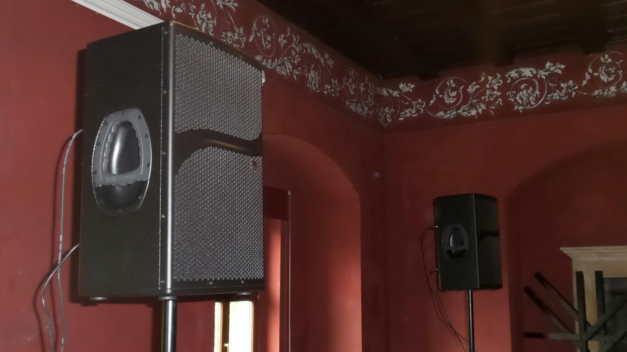 Nagłośnienie obiektów, nagłośnienie zamków, nagłośnienie sali balowej