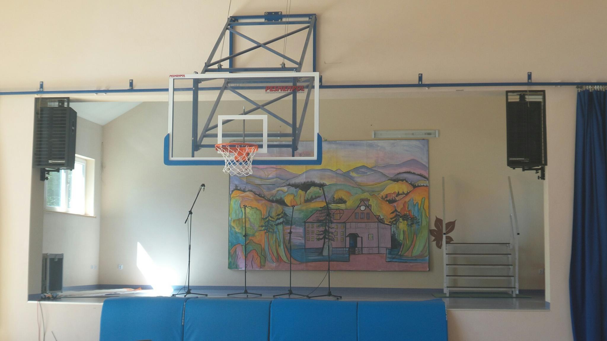 Nagłośnienie sali gimnastycznej w szkole - instalacja