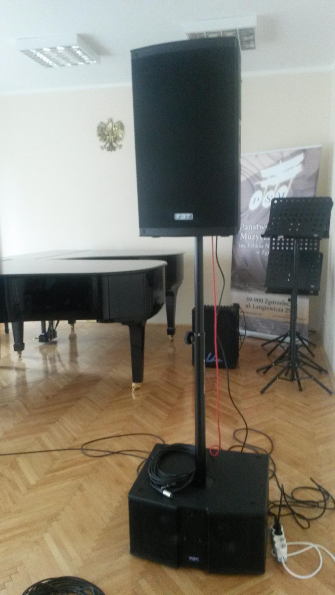 Nagłośnienie dla szkoły muzycznej w Zgorzelcu